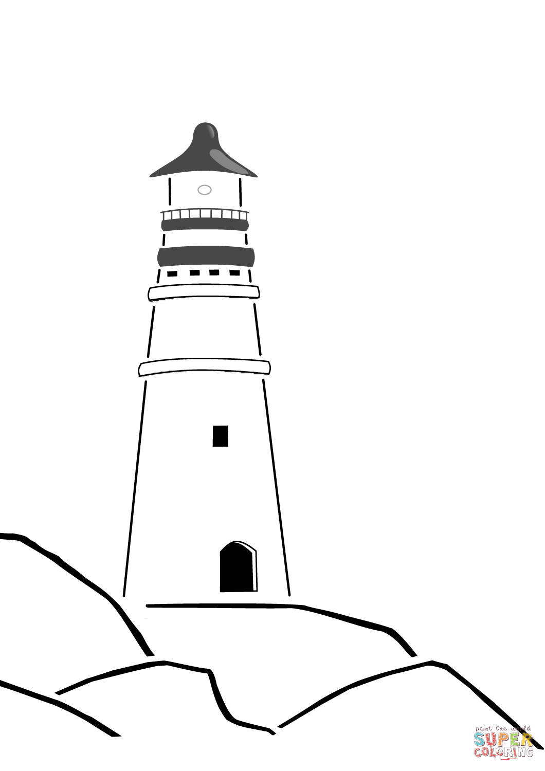 lighthouse coloring page lighthouse kiddicolour page coloring lighthouse