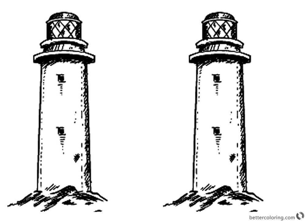 lighthouse coloring page two lighthouses coloring pages free printable coloring pages page coloring lighthouse