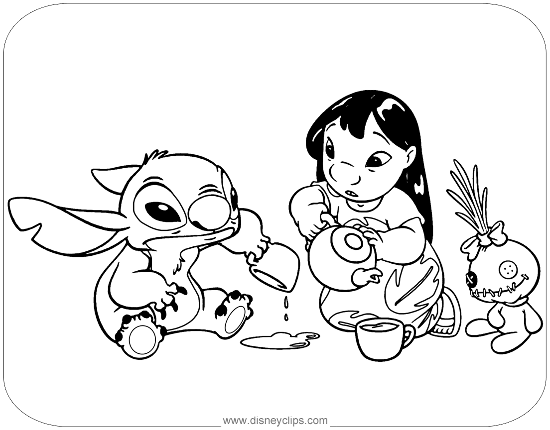 lilo and stitch coloring pages printable free printable lilo and stitch coloring pages for kids pages coloring lilo stitch printable and