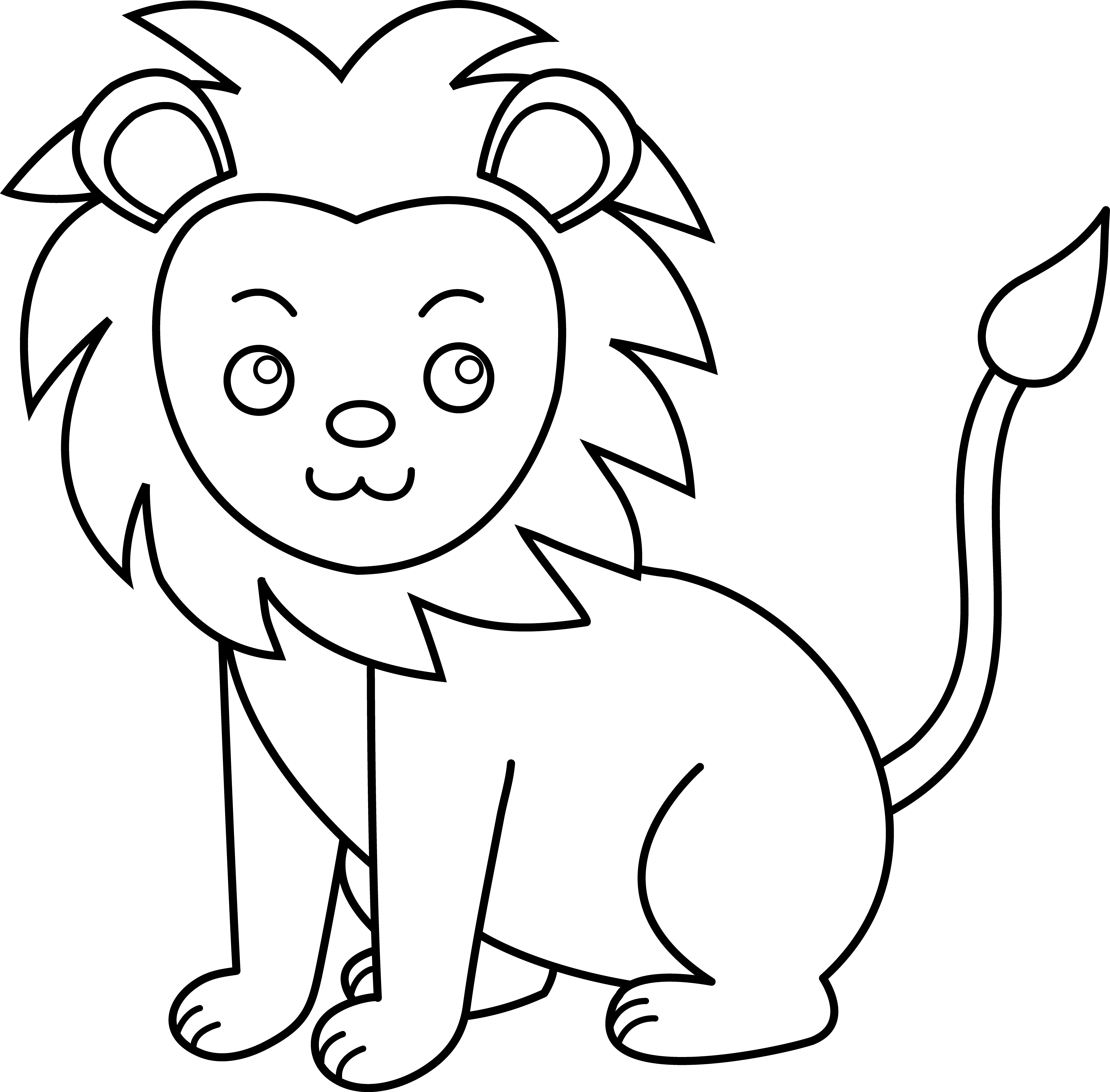 lion coloring image lion free to color for children lion kids coloring pages coloring image lion