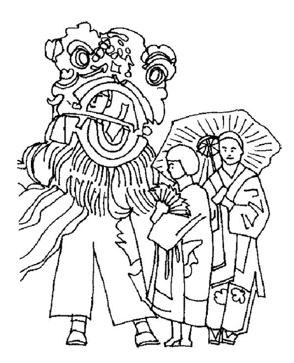 lion dance coloring celebrate chinese new year with lion dance coloring page lion dance coloring