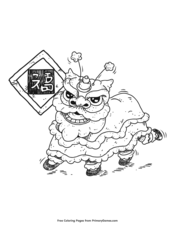 lion dance coloring chinese new year coloring pages free printable pdf from dance lion coloring
