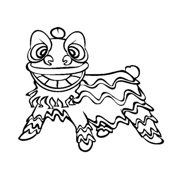 lion dance coloring lion dance coloring page at getdrawings free download lion coloring dance