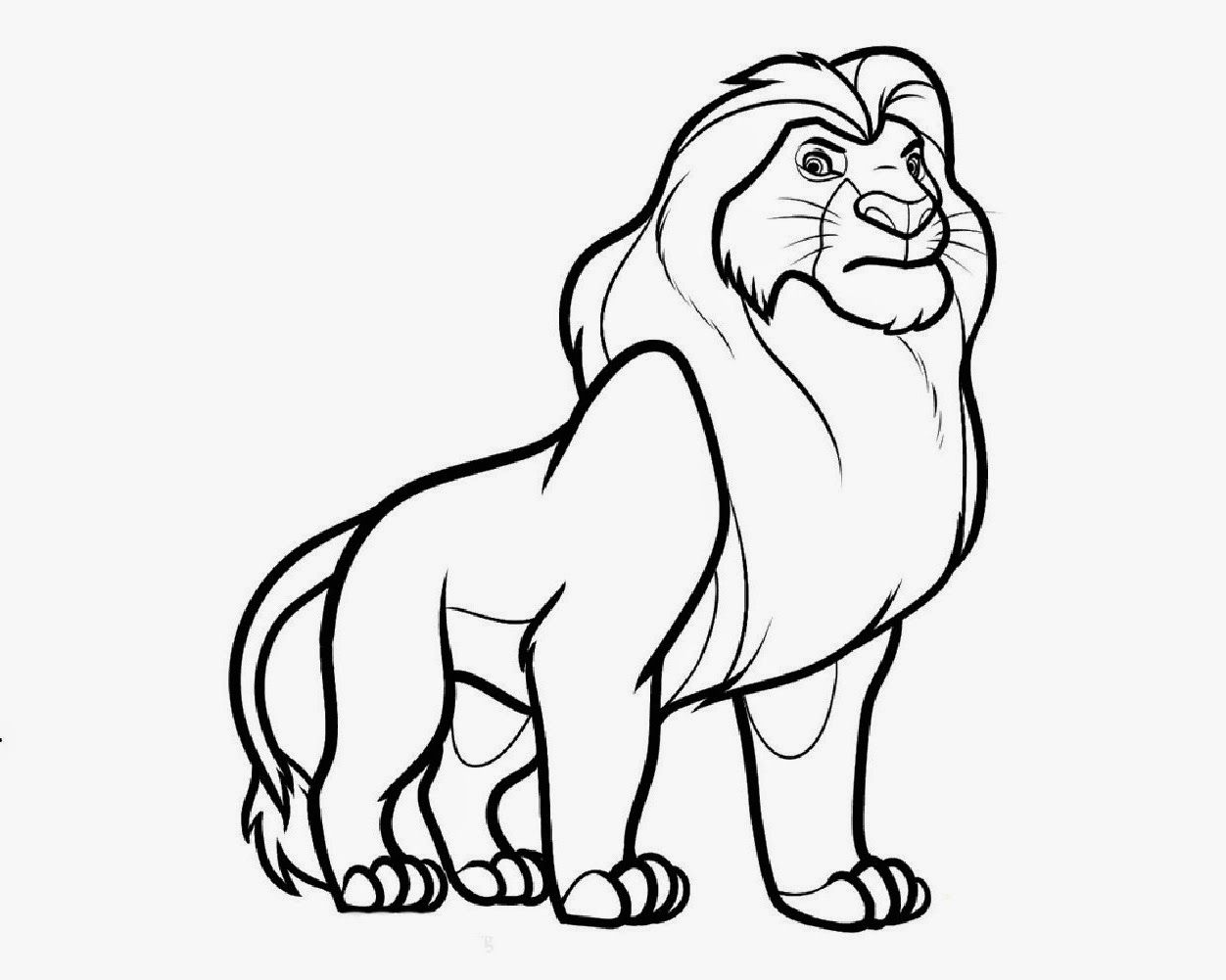 lion king easy coloring pages disney lion king coloring pages download and print for free pages coloring easy king lion