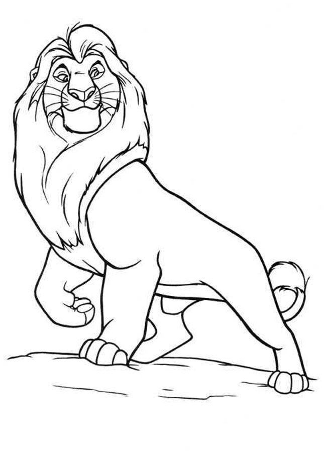 lion king easy coloring pages rafiki baptizes simba the lion king kids coloring pages easy lion coloring king pages