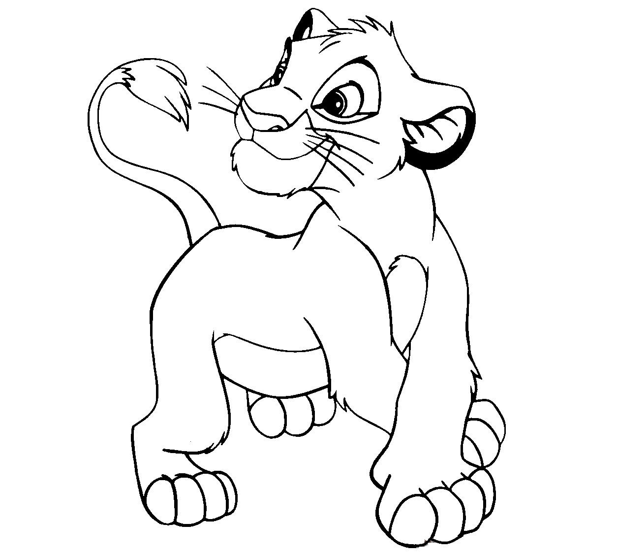 lion king easy coloring pages simba the lion king coloring page bubakidscom king pages coloring lion easy