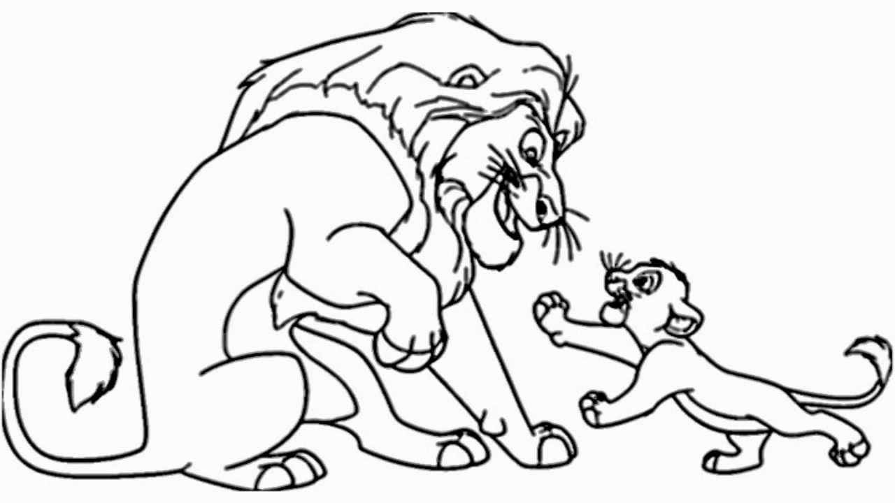 lion king easy coloring pages the lion king printable coloring pages 2 disney coloring lion coloring pages king easy