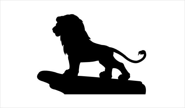 lion king silhouette silhouette lion king at getdrawings free download king silhouette lion
