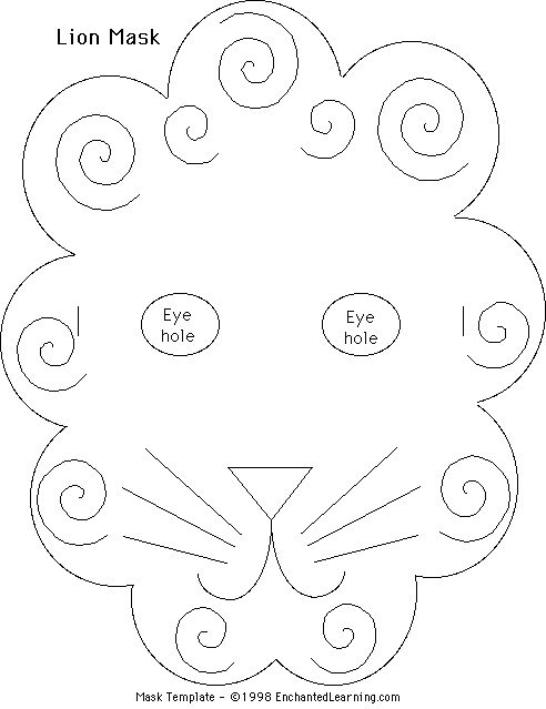 lion mask coloring page 為孩子們的著色頁 lion mask coloring pages page lion mask coloring