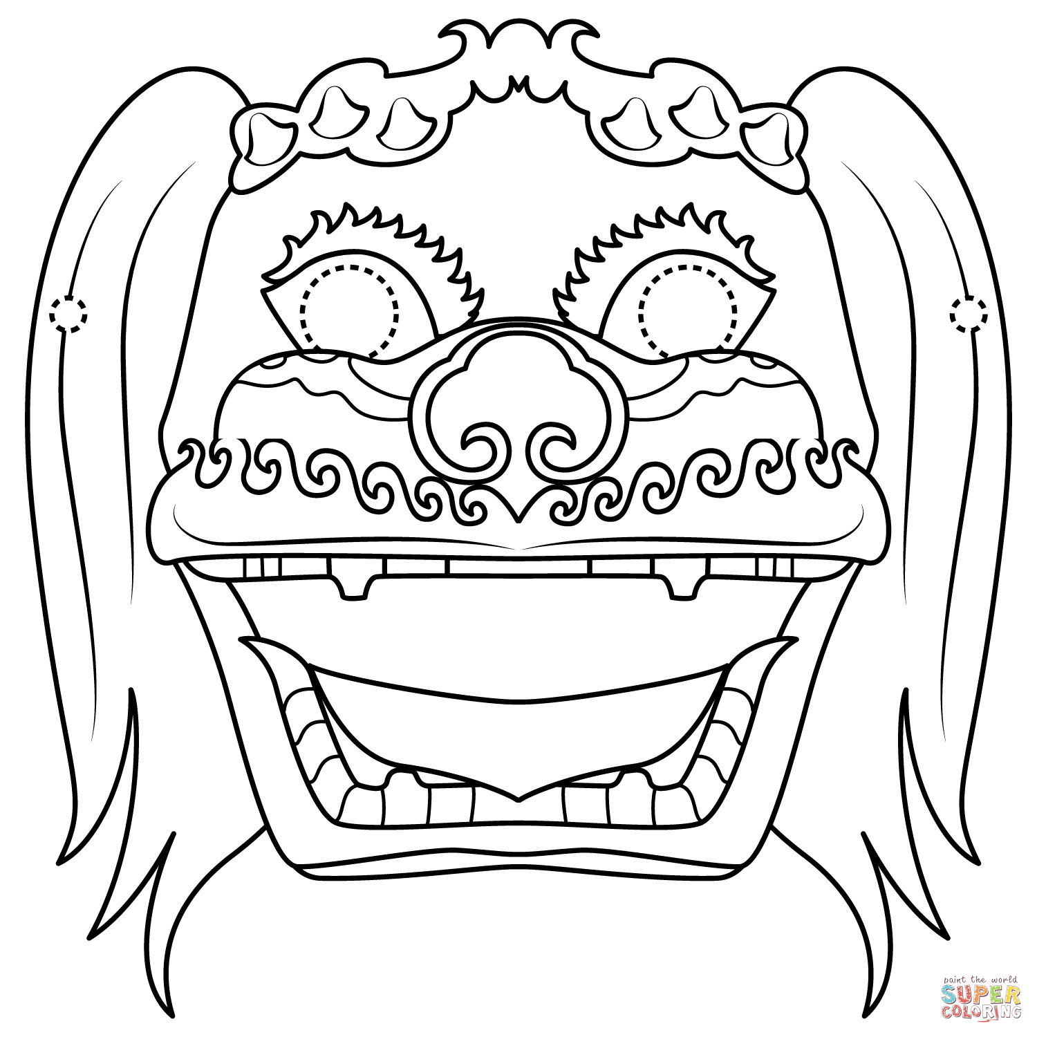 lion mask coloring page chinese lion dance mask coloring page free printable lion page coloring mask