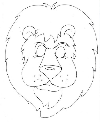 lion mask coloring page craftsactvities and worksheets for preschooltoddler and page mask lion coloring