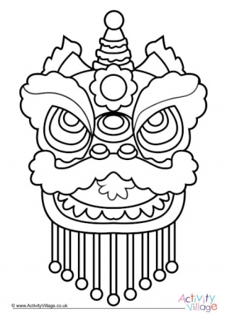 lion mask coloring page happy chinese new year colouring page coloring mask page lion