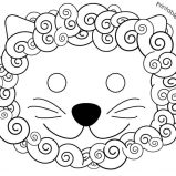 lion mask coloring page horse mask coloring page coloring sky mask lion page coloring