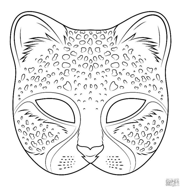 lion mask coloring page i love coloring ii cheetah mask in 2020 coloring mask coloring lion mask page