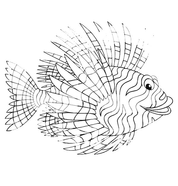 lionfish coloring page lionfish coloring page at getdrawings free download coloring lionfish page