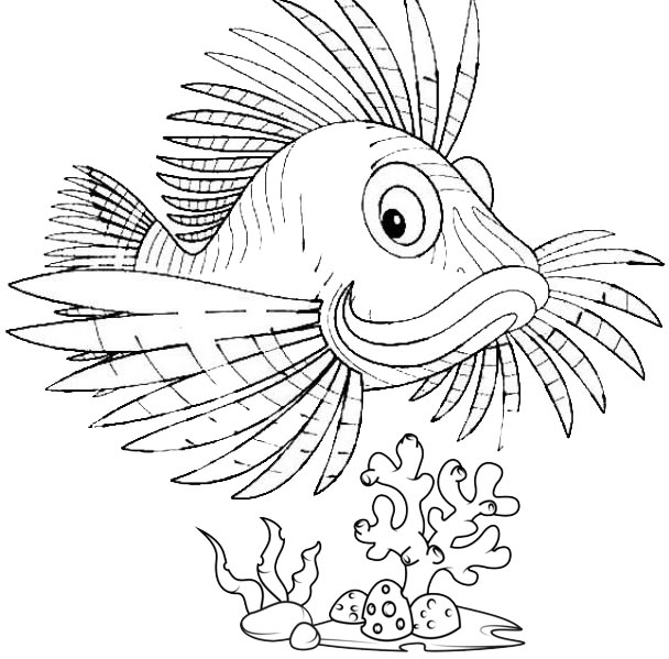 lionfish coloring page lionfish coloring page at getdrawings free download lionfish coloring page