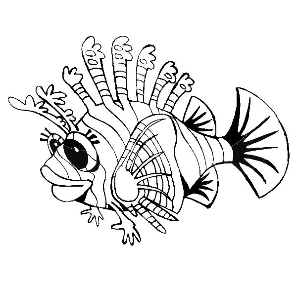 lionfish coloring page zentangle stylized zebrafish lionfish stock vector page coloring lionfish