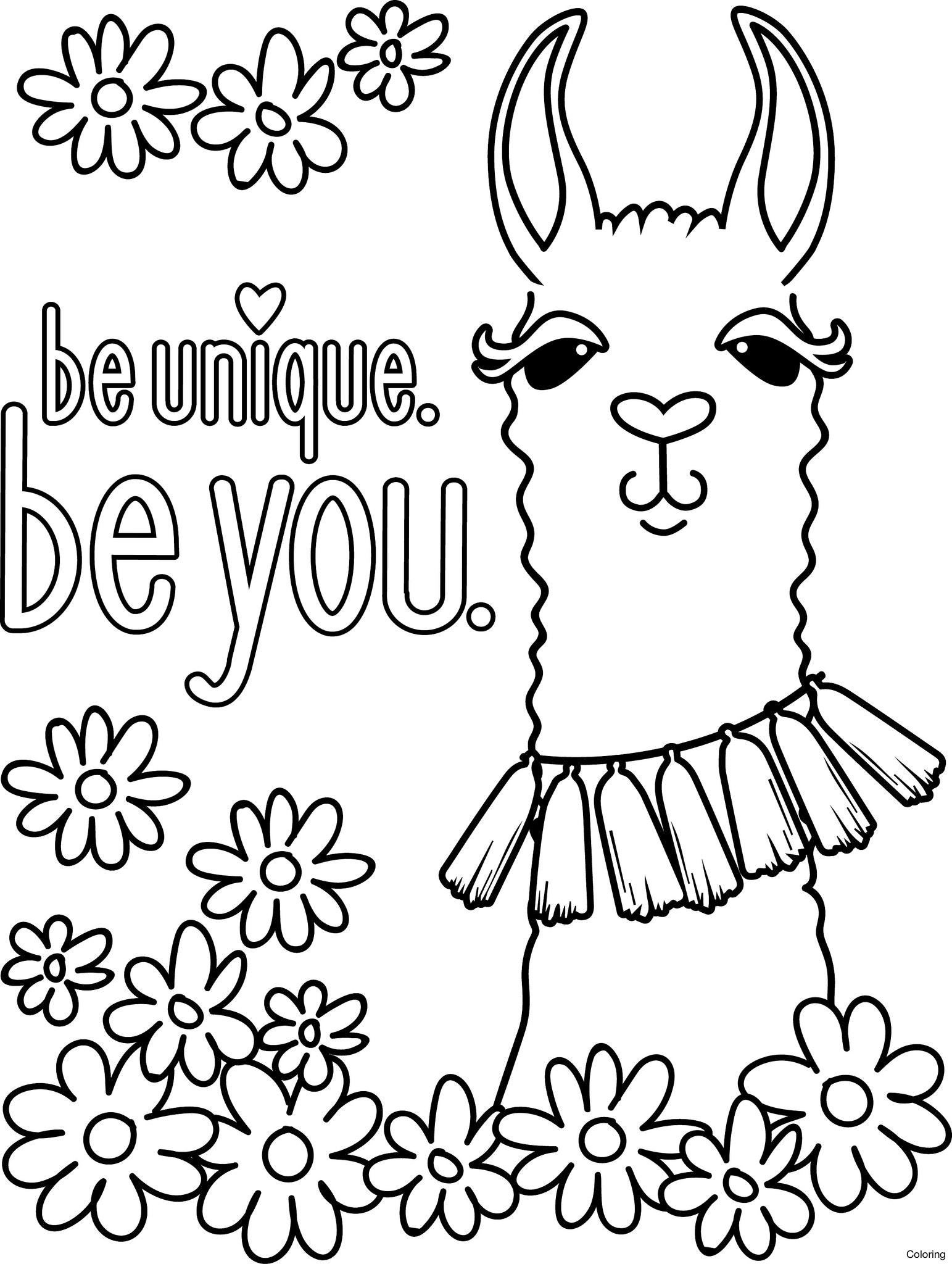 llama coloring pages cute llama coloring pages at getcoloringscom free pages coloring llama