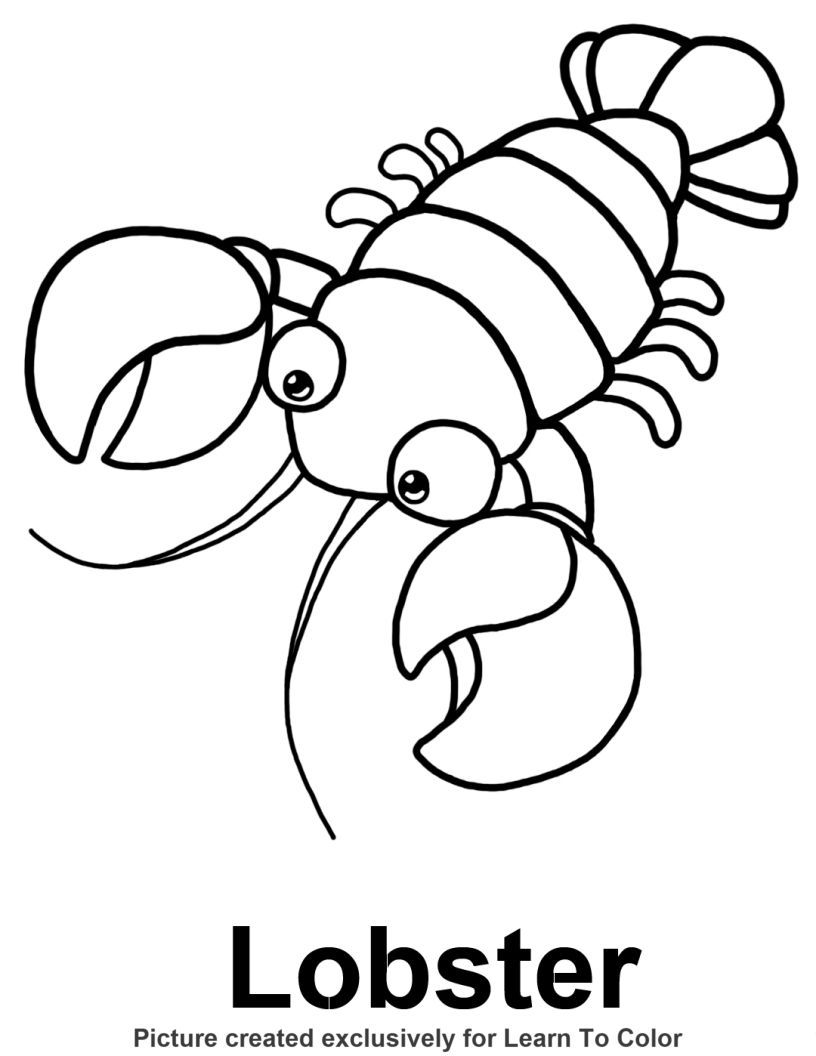 lobster coloring page 17 best images about maine scrapbk on pinterest page lobster coloring