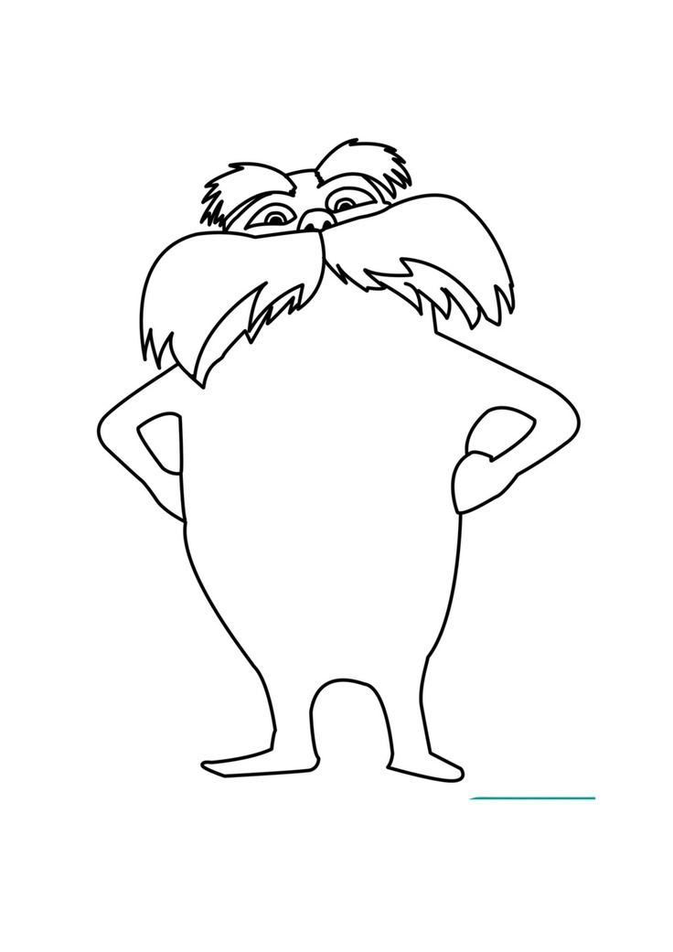 lorax coloring page the lorax coloring pages coloring lorax page