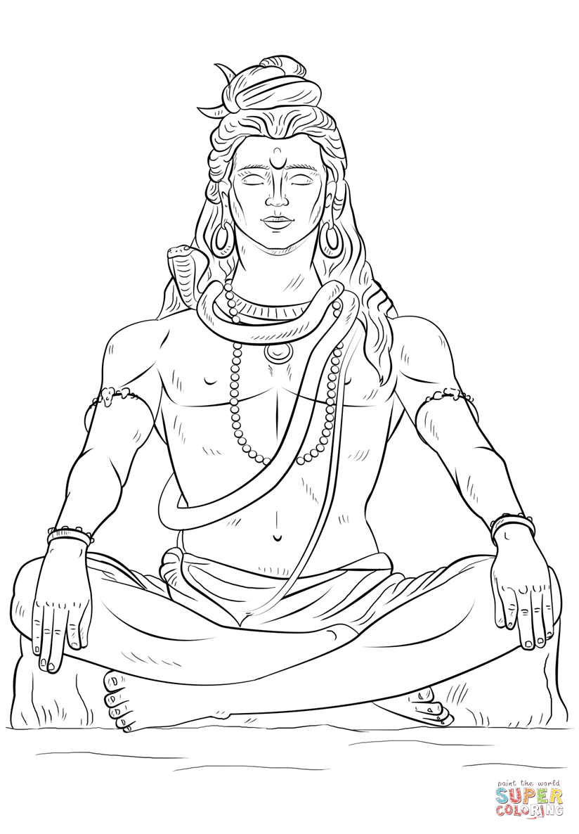 lord shiva colouring pages lord shiva coloring pages learny kids pages shiva colouring lord