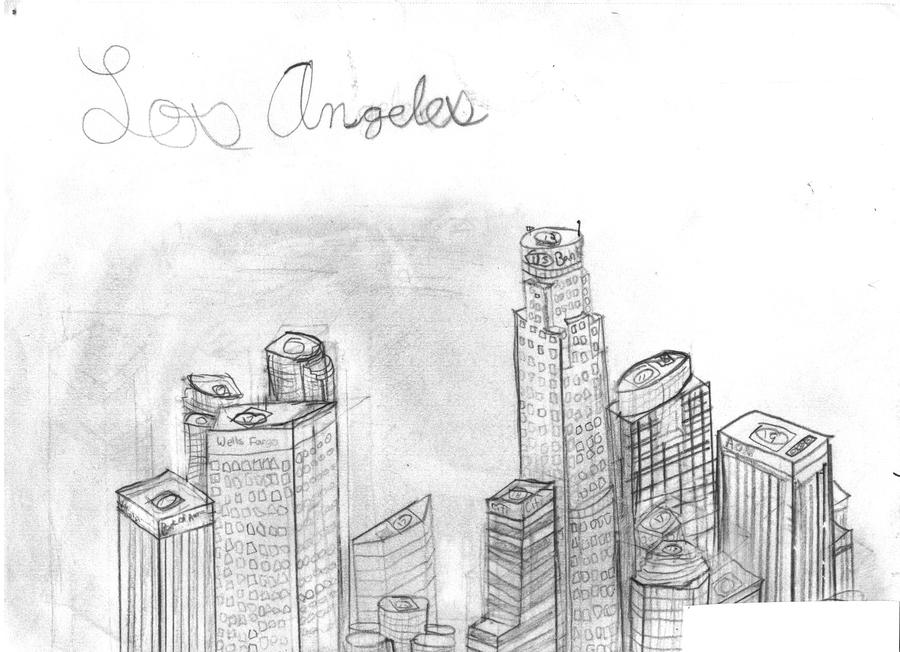 los angeles skyline drawing los angeles california cityscape 02bw drawing by aged pixel angeles skyline drawing los