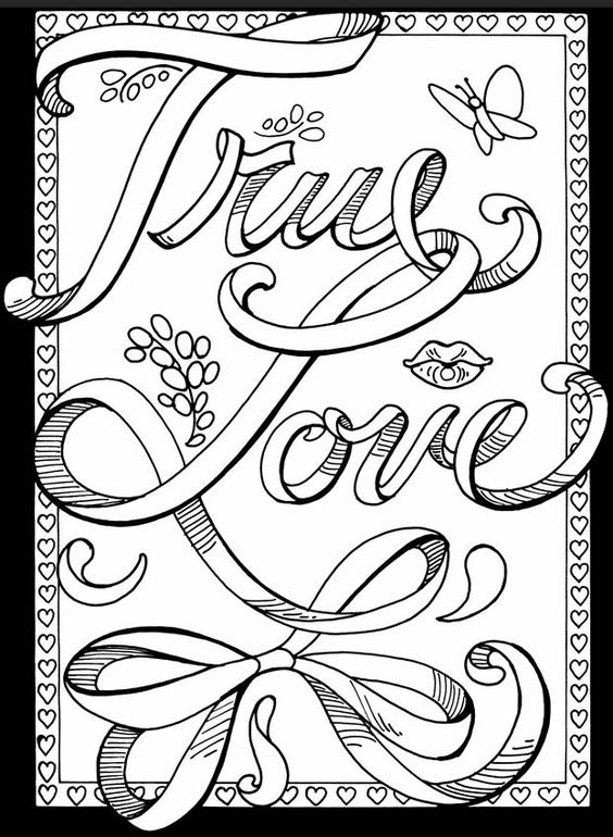 love printable coloring pages month of love coloring printable pages love