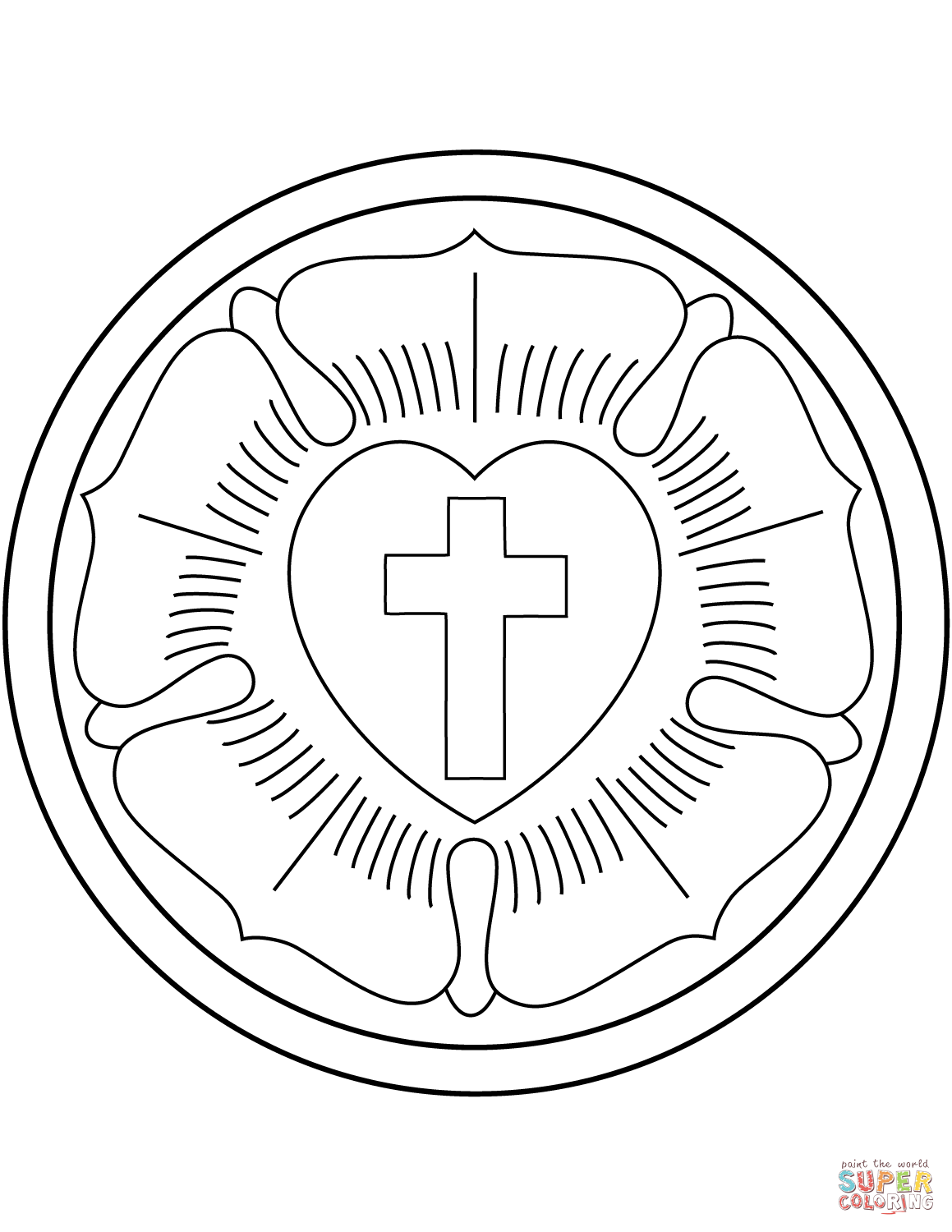 luther rose coloring page download a free copy of the martin luther roseseal along coloring page rose luther