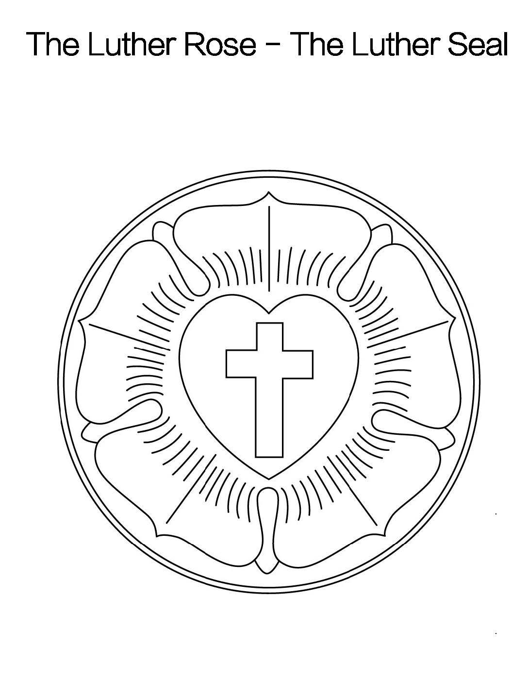 luther rose coloring page luther rose coloring sheet printable pdf download luther coloring rose page