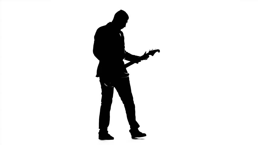 man playing guitar silhouette black silhouette of guy playing guitar on white background playing guitar man silhouette