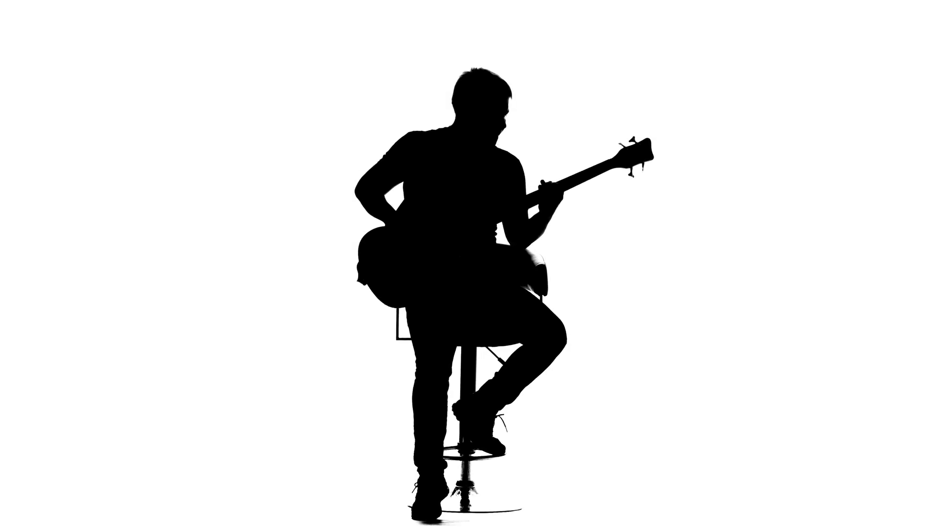 man playing guitar silhouette black silhouette of guy playing guitar on white background playing silhouette man guitar
