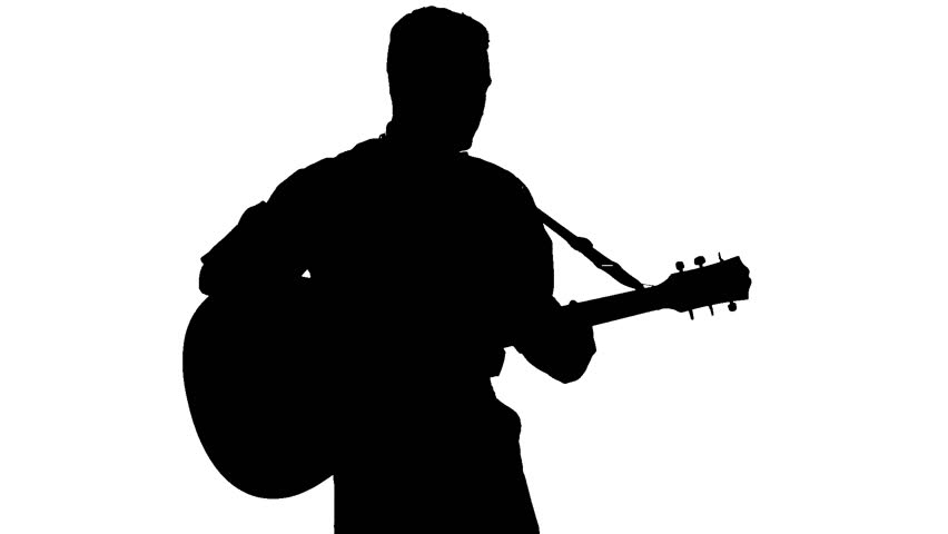 man playing guitar silhouette guitarist silhouette musical elementsthat handsome man guitar man playing silhouette