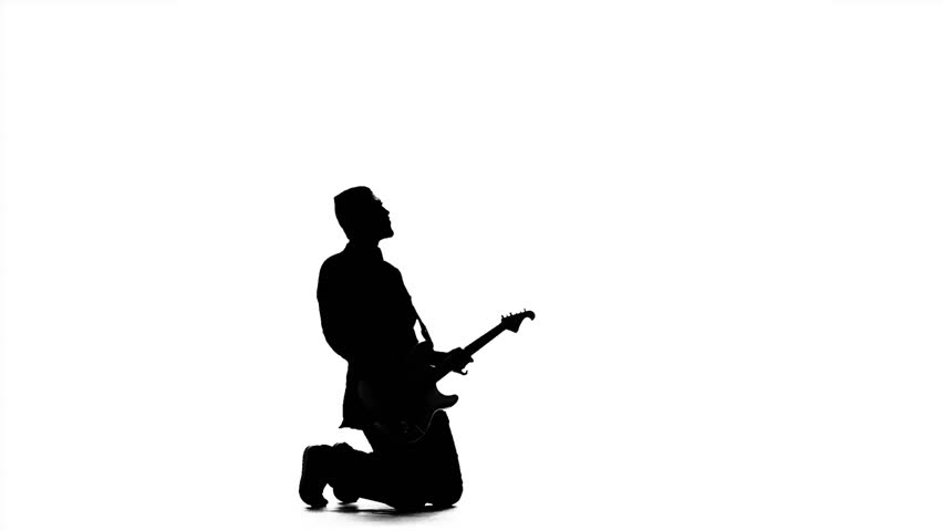 man playing guitar silhouette silhouette of a young man playing the guitar and dancing man playing silhouette guitar