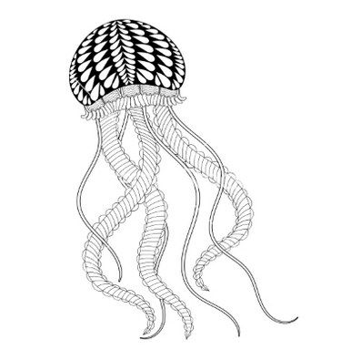 mandala jellyfish coloring page adult coloring pages set of free ocean inspired printables mandala coloring jellyfish page