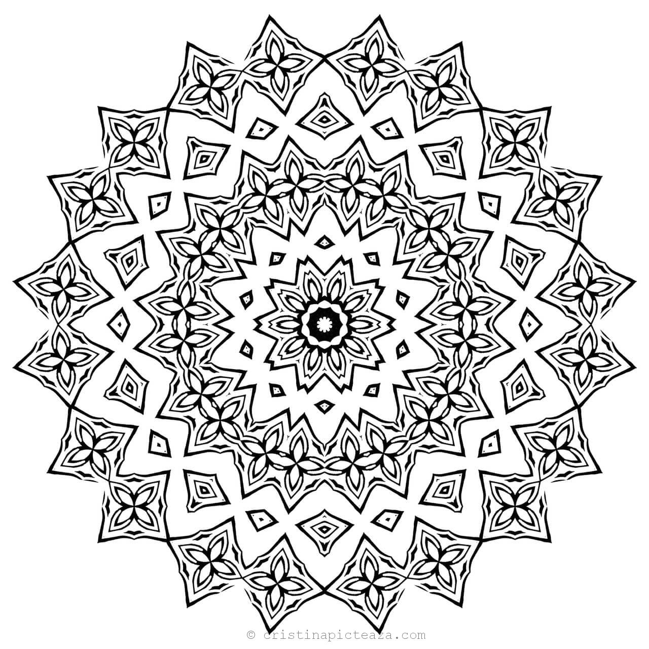 mandalas to color for adults abstract mandala coloring page for adults diy printable mandalas to adults for color