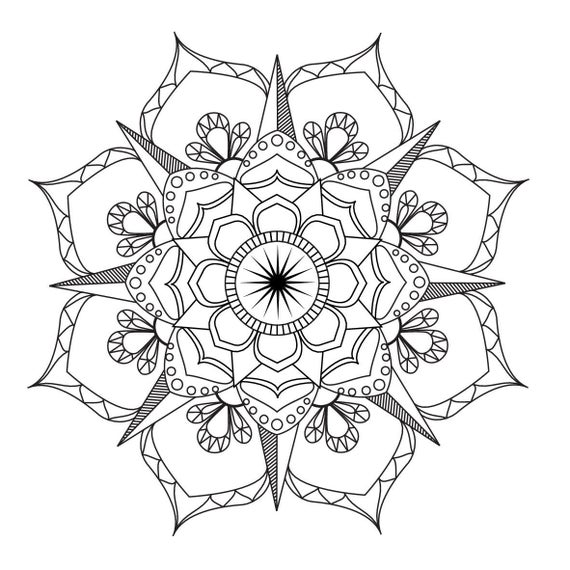 mandalas to color for adults flower mandala coloring page adult coloring art therapy pdf adults to mandalas for color