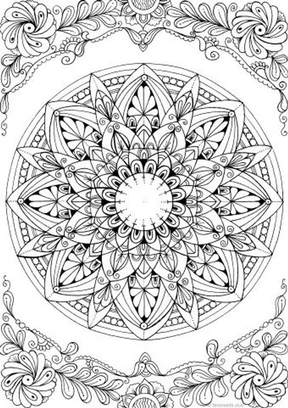 mandalas to color for adults mandala printable adult coloring page from favoreads for adults to mandalas color