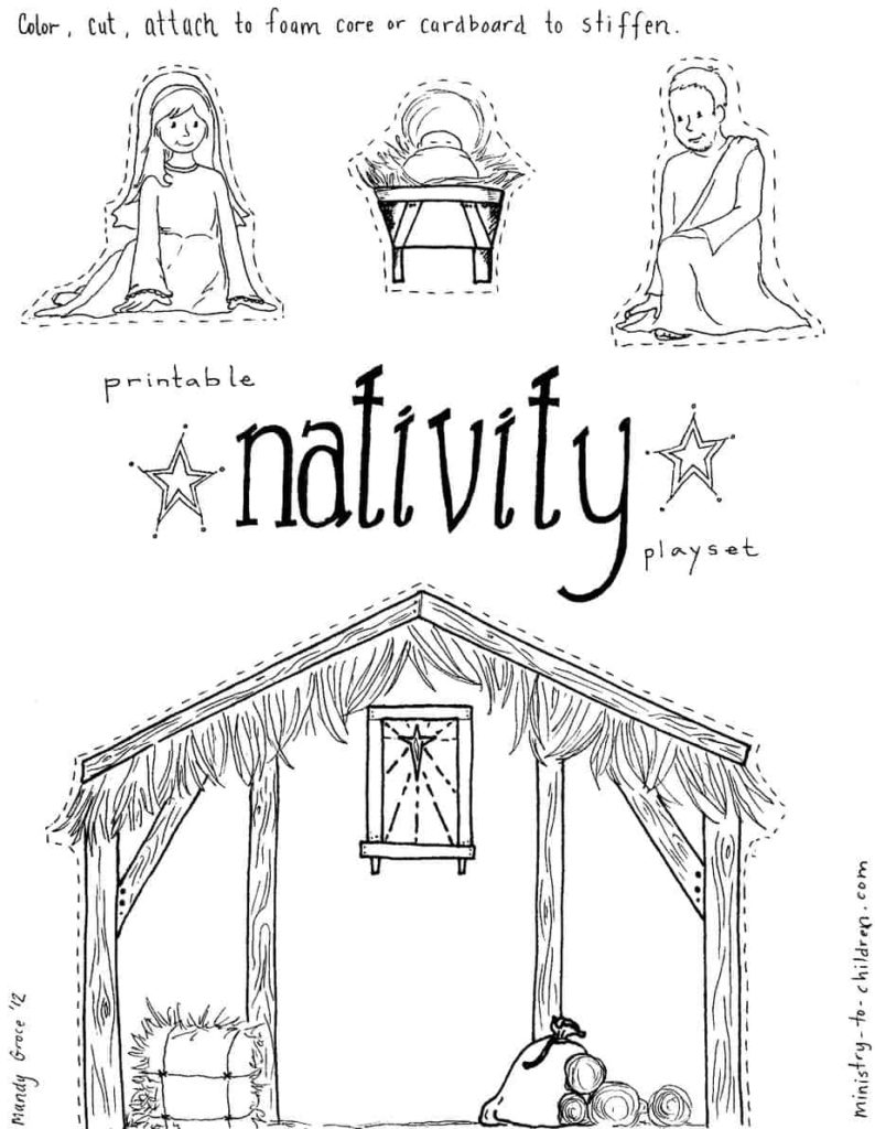 manger coloring page away in a manger coloring pages at getcoloringscom free page coloring manger 1 1