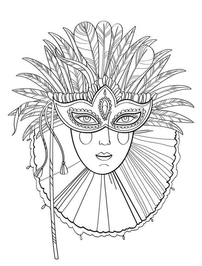 mardi gras mask coloring page a beautiful lady on mardi gras mask coloring page mardi coloring mask gras page