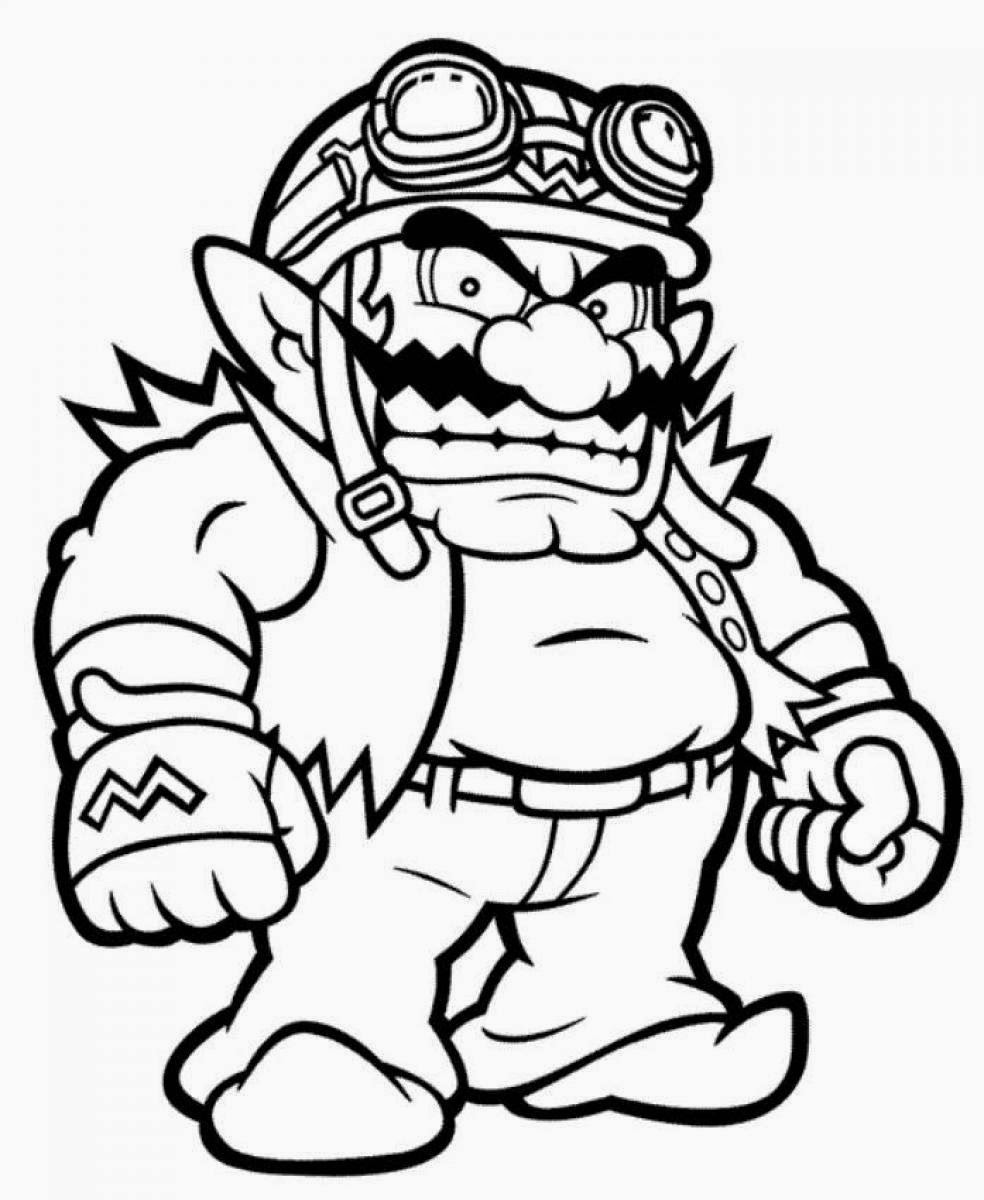 mario color pages all mario characters coloring pages at getdrawings free pages mario color