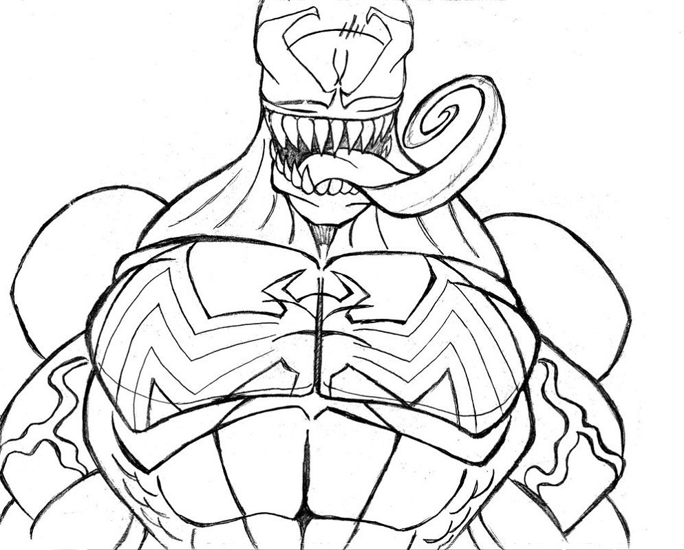 marvel venom coloring pages how to draw venom step by step marvel characters draw venom coloring marvel pages