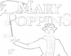 mary poppins outline clipart mary poppins umbrella clipart best poppins mary outline