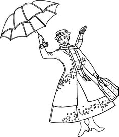 mary poppins outline mary poppins coloring page coloring pages for kids mary poppins outline mary