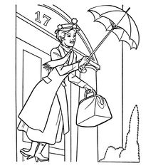 mary poppins outline mary poppins kleurplaten leuk voor kids outline poppins mary