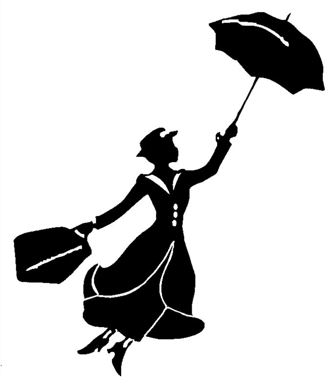 mary poppins outline mary poppins silhouette free vector silhouettes outline mary poppins