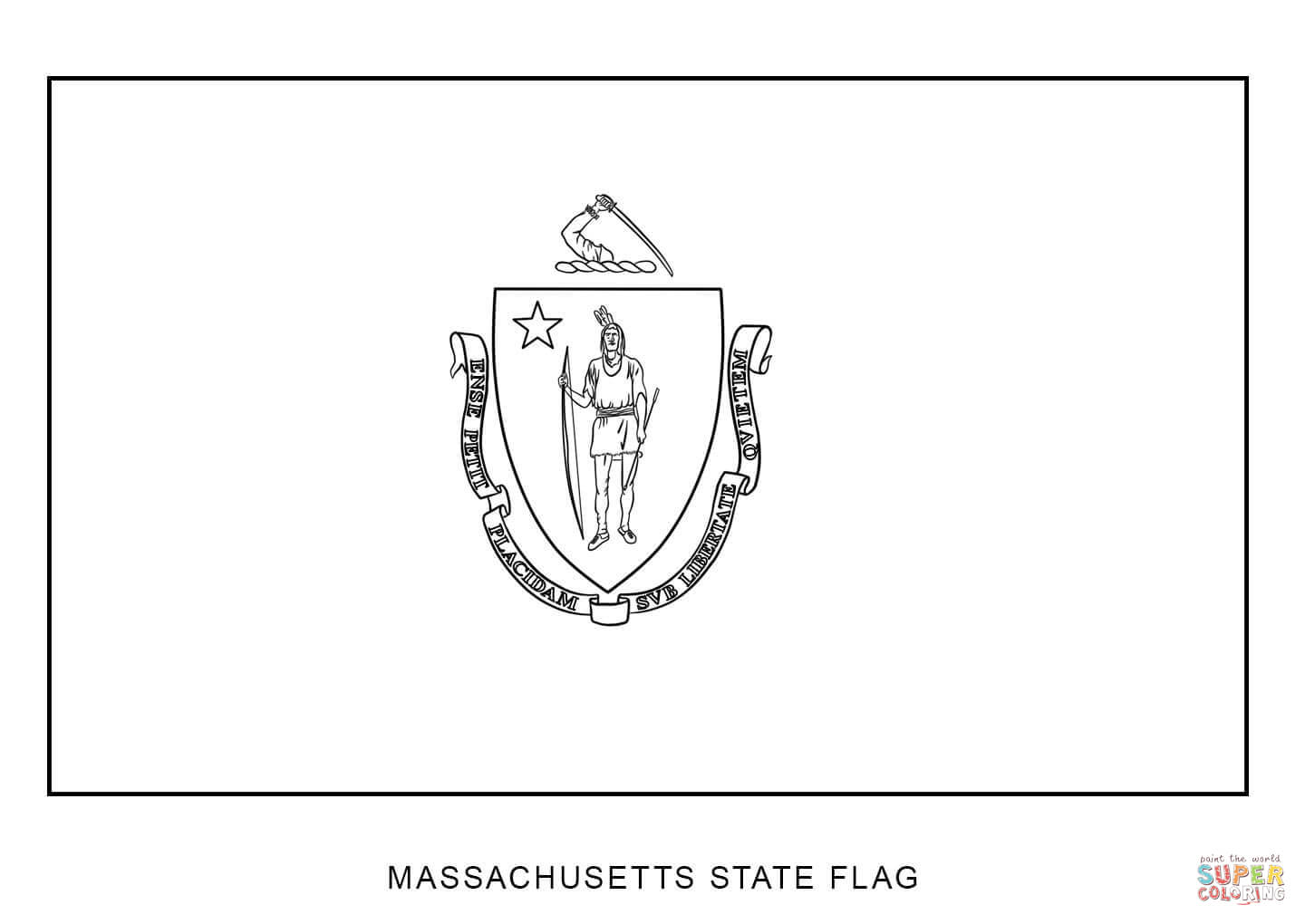 massachusetts state flag coloring page massachusetts state flag coloring page color luna page state flag coloring massachusetts