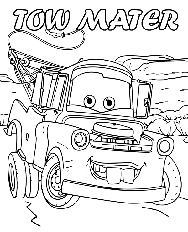 mater coloring page how to draw tow mater coloring pages how to draw tow page coloring mater