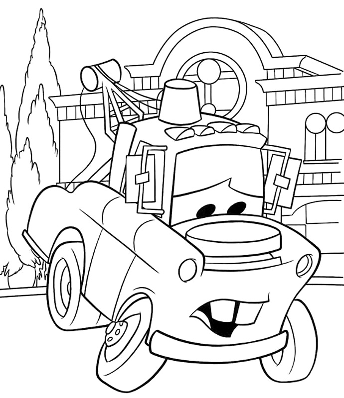 mater coloring page mater from cars coloring pages coloring pages coloring page mater