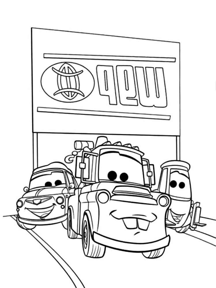 mater coloring page mater from cars coloring pages free printable mater from mater page coloring 1 1