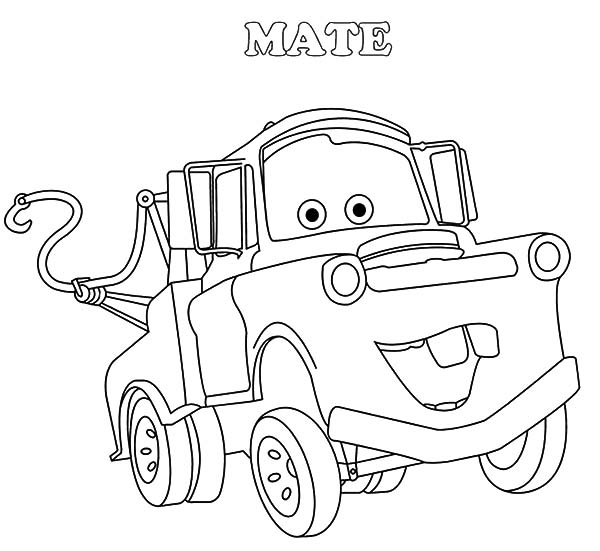 mater coloring page tow mater coloring page mater the tow truck fan art mater coloring page